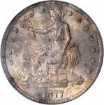 1877-S Trade Dollar. MS-64 (PCGS).