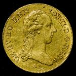 HOUSE OF HABSBURG Josef II ヨゼフ2世(1765~90) Ducat 1787A   cleaned 洗浄 EF