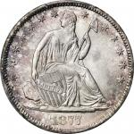 1877-CC Liberty Seated Half Dollar. WB-15. Rarity-2. Type II Reverse, Medium CC. MS-66 (PCGS).