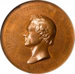 1853 Franklin Pierce Indian Peace Medal. Large Size. Bronze. 76 mm. Julian IP-32. Second Obverse. MS
