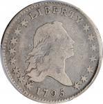 1795 Flowing Hair Half Dollar. O-115, T-10. Rarity-5. Two Leaves. VG-8 (PCGS).