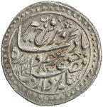 MUGHAL: Farrukhsiyar, 1713-1719, AR nazarana style rupee 4011。02g41, Multan, AH1130 year 7, KM-377。4