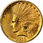 1915-S Indian Eagle. MS-66 (PCGS).