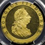 GREAT BRITAIN George III ジョージ3世(1760~1820) Penny in Gilt 1797  PCGS-PR63DCAM Proof UNC