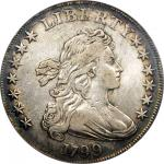 1799 Draped Bust Silver Dollar. BB-158, B-16. Rarity-3. EF Details--Scratch (PCGS).