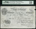 Bank of England, C.P. Mahon, £10, Liverpool 9 February 1927, prefix 104V, black and white, ornate cr