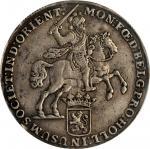 1738年荷属东印度杜卡顿银币。NETHERLANDS EAST INDIES. Holland. Ducaton, 1738. PCGS EF-45 Gold Shield.