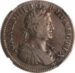 PORTUGAL. Copper 2 Cruzados Pattern, 1650. Joao IV. NGC VF-35 Brown.