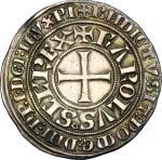 World Coins, France.  Charles I d'Anjou (1247-1285).. Gros tournois. Dupl. 1627 A.  4.15 g.  26 mm.