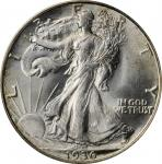 1936-D Walking Liberty Half Dollar. MS-64 (PCGS). OGH.