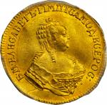 Ducat, 1753-OE BP 5. Elizabeth (1740-60). PCGS AU-58 Secure Holder.