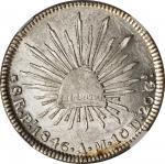 MEXICO. 8 Reales, 1846-Pi AM. San Luis Potosi Mint. NGC Unc Details--Scratches.