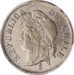 CHILE. 2 Centavos, 1876. PCGS MS-64 Gold Shield.