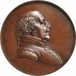 1797 John Adams Indian Peace Medal. Bronze. 51 mm. Julian IP-1. Second Reverse. MS-64BN (NGC).