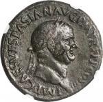 VESPASIAN, A.D. 69-79. AE Sestertius (24.72 gms), Rome Mint, A.D. 71. NGC Ch VF, Strike: 5/5 Surface