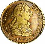 COLOMBIA. Escudo, 1776-SF. Popayan Mint. Charles III (1759-88). PCGS VF-35 Gold Shield.