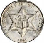 1860 Silver Three-Cent Piece. MS-65 (PCGS). CAC.