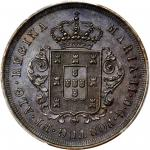 MADEIRA ISLANDS. 10 Reis, 1850. PCGS AU-58 Secure Holder.