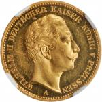 GERMANY. Prussia. 20 Mark, 1888-A. NGC PROOF-61 CAMEO.