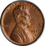 1911-S Lincoln Cent. MS-66 RB (PCGS).