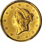 1854-S Gold Dollar. AU-58 (PCGS). CAC.
