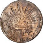 MEXICO. 8 Reales, 1885-Pi MH. San Luis Potosi Mint. NGC MS-64.
