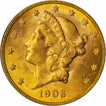 1906-S Liberty Head Double Eagle. MS-63 (PCGS).