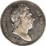 GREAT BRITAIN. Silver Pattern Crown, ND (1820). George III. PCGS PROOF-62 Gold Shield.
