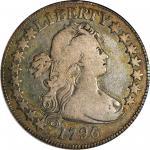1796 Draped Bust Half Dollar. Small Eagle. O-102, T-2. Rarity-5. 16 Stars. VG-10 (PCGS). CAC.