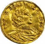 1716年俄罗斯彼得一世金币 PCGS AU 55
