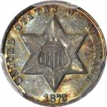 1872 Silver Three-Cent Piece. MS-65 (PCGS). CAC.