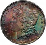 1887 Morgan Silver Dollar. MS-66+ (PCGS). CAC.
