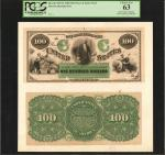 Fr. 199 (W-3245). Act of March 3, 1863. $100 5% One Year Note. Hessler X137D. Face and Back Color Pr
