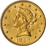 1848 Liberty Head Eagle. MS-61 (PCGS).