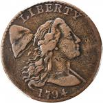 1794 Liberty Cap Cent. S-41. Rarity-3. Head of 1794. VF-30 (PCGS).