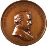 1857 James Buchanan Indian Peace Medal. First Size. Mule with Settler/Indian Reverse. Bronzed Copper