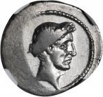 JULIUS CAESAR. AR Denarius (3.91 gms), Rome Mint, ca. August, 43 B.C.