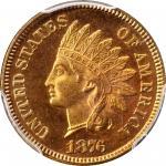 1876 Indian Cent. Snow-PR1. Proof-66 RD Cameo (PCGS).
