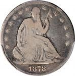 1878-CC Liberty Seated Half Dollar. WB-1, the only known dies. Rarity-4. Good-6 (PCGS).
