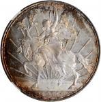 MEXICO. Peso, 1911. Mexico City Mint. NGC MS-66.