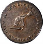 Undated (ca. 1793-1795) Kentucky Token. W-8800. Rarity-1. Copper. Plain Edge. AU-55 BN (PCGS).