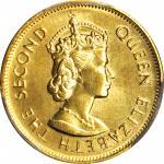 1980年香港一毫样币 HONG KONG. 10 Cents, 1980. PCGS SP-66 Gold Shield.