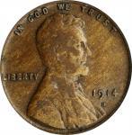 1914-D Lincoln Cent. Fine-12 (PCGS).