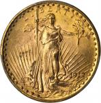 1912 Saint-Gaudens Double Eagle. MS-64 (PCGS).