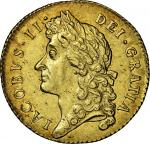 James II (1685-88), Guinea, 1687, second laureate bust left, rev. crowned shields cruciform, sceptre
