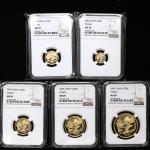 2005年熊猫纪念金币一组5枚 NGC MS