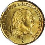 ITALY. Parma. Doppia, 1797-S. Ferdinando di Borbone (1765-1802). NGC MS-63.