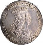 ITALY. Tuscany. Tallero, 1699/8. Leghorn Mint. Cosimo III de Medici. NGC MS-64.