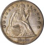 1843 Liberty Seated Silver Dollar. OC-1. Rarity-1. MS-63 (PCGS).
