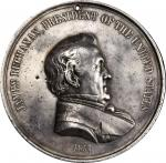 1857 James Buchanan Indian Peace Medal. Silver. Large Size. 75.3 mm. 2430.8 grains. Julian IP-34, Pr